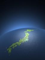 球体の日本地図
