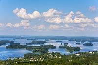 フィンランド 東スオミ州 湖に点在する島々