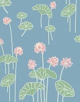 蓮の花と葉のパターン