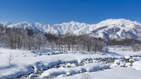 長野県 松川と北アルプス