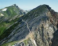 長野県・白馬岳 白馬鑓ヶ岳より白馬岳と杓子岳