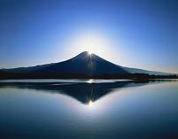 静岡県 田貫湖 ダイヤモンド富士 朝