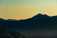朝の穂高連峰 槍ヶ岳