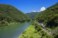 長野県 天竜川と飯田線 唐笠駅