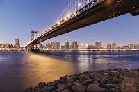 アメリカ合衆国 ニューヨーク マンハッタン橋 夜景