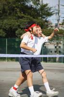 運動会の小学生
