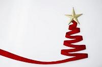 星とクリスマスツリー