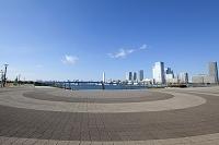 東京都 豊洲公園と晴海のビル群