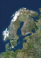 衛星写真 スカンジナビア