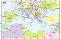 地中海 行政区分図