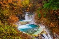 山梨県 紅葉の西沢渓谷 七ツ釜五段ノ滝