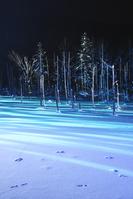 北海道 夜の青い池