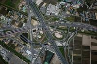 久喜白岡JCT(首都圏中央連絡自動車,東北自動車道)俯瞰撮影