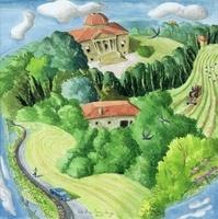 Villa Rocca, 1998 (w/c on paper)