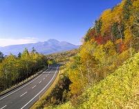 北海道 三国峠の道と二ペソツ山