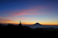 静岡県 葵区 山伏岳より富士山