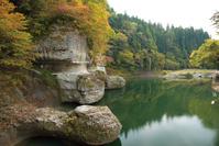 福島県 塔のへつりの秋