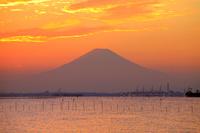 千葉県 富士山と東京湾夕景
