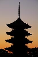 京都府 東寺 夜明けの五重塔
