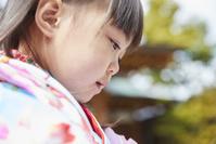 七五三の日本人の女の子