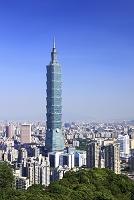 台湾 台北市 台北101と台北市街