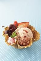 イチゴのアイスクリーム