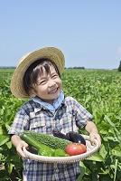 夏野菜と日本人の子供