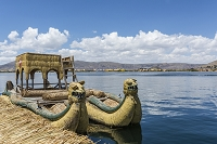 チチカカ湖のウロス島 ペルー