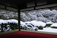 京都府 京都市 雪の詩仙堂 庭園