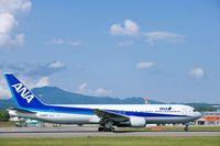 北海道 函館空港・全日空ボーイング767