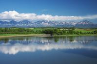 北海道 水沢ダムと十勝岳連峰