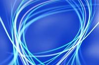 白と青の曲線イメージ CG