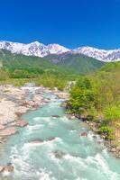 長野県 北アルプスと松川