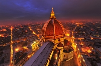 イタリア フィレンツェ 夜景