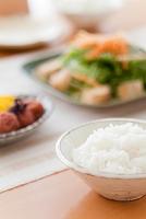ご飯と和の朝食