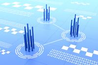通信ネットワークのイメージと二進法 CG