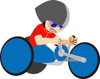 イラスト 手漕ぎ自転車
