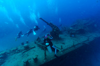 二見湾に沈む海軍の駆潜艇 50号