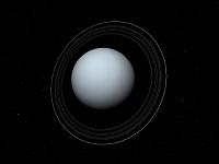 天王星の衛星と環