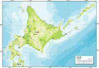 北日本 地勢図