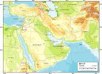 西アジア 地勢図