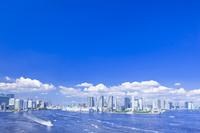 東京都 晴海埠頭と高層マンション