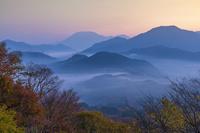 鳥取県 明地峠から朝の大山