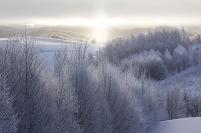 北海道 樹氷とサンピラー
