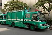 銀座の防災訓練・警視庁機動救助車