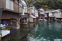 京都府 伊根浦の町並み 舟屋