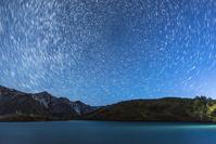 長野県 八方池と北天の星