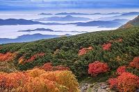 長野県 乗鞍岳よりの山並み