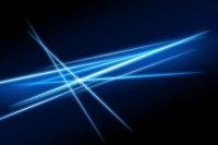 交差する青い光 CG