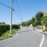 神奈川県 横浜市 住宅街の坂道
